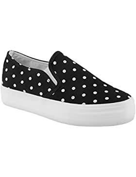 Ideal Shoes-Slip-on Eleanie a pois