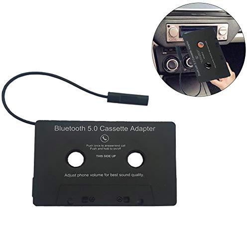 Generp Universal Car Audio-Kassette zu Aux-Adapter für Smartphones, Walkman, MP3-Player, Kassettenadapter für das Auto, Bluetooth 4.0 eingebauter Akku Vintage/Retro Music Converter -
