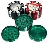 Casino Grinder 3-teiliger Grinder aus Metall mit Magnethalterung