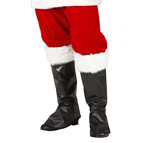 WIDMANN Copri Stivali Babbo Natale per Adulti, Nero, Taglia Unica VD-WDM1567B