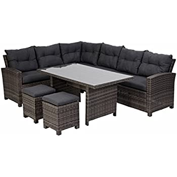 Amazon.de: greemotion 128512 Rattan Lounge Set VERONA-Loungemöbel ...