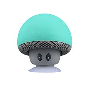 Lautsprecher, Mini Wireless Drahtloser Tragbarer Stereo Bluetooth Lautsprecher Pilzes Design mit Saugnapf Handfrei Mikrofon Wasserdicht - Grün, XL