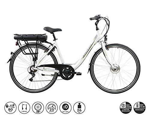 F.lli Schiano E-Moon 28\'\' bici elettrica bianca