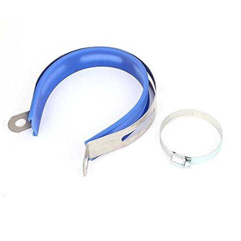 sourcingmap® Remplacement tuyau d'échappement Support fixation avec agrafe 33-57mm collier serrage