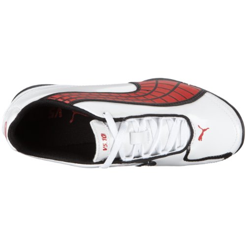 PUMA v5.10 II TT Jr 102238 Unisex - Kinder Sportschuhe - Fußball Weiss/White-Pompeian Red-Black