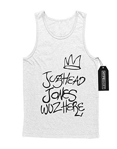 "Tank-Top Riverdale ""JUGHEAD JONES WUZ HERE"" C210061 Weiß"