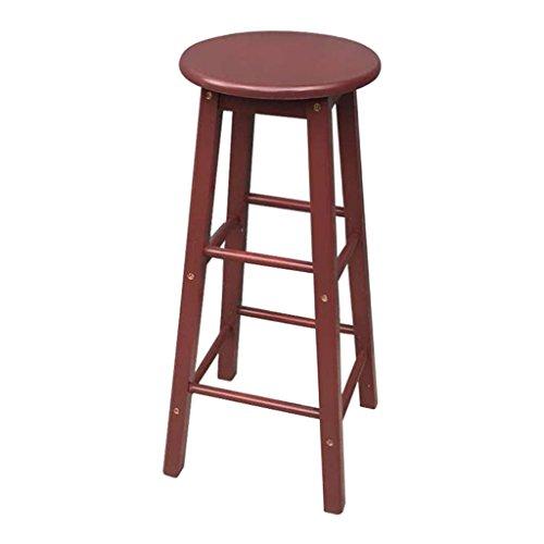 Möbelhocker bequemer Stuhl, Retro Küche Hocker High Hocker Runde Bar Hocker Holz Sitz Einfache Frühstück Bar, Alle Massivholz Höhe 53cm / 60cm / 70cm / 80cm für Küche Zähler Bar, 80cm, 4 - 4 Zähler Höhe Stühle