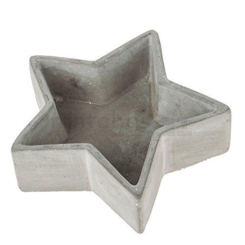 matches21 Sternschale sternförmige Beton Stern Schale Deko grau in 2 Größen, Größe:20 cm