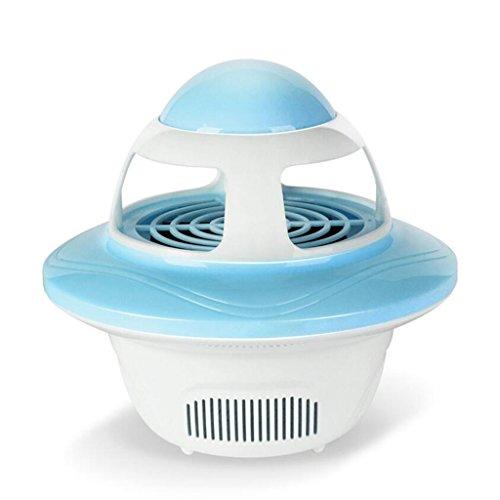 HHRONG Wanze Zapper elektronische Inneninsekt-Mörder-USB-Moskito-Abwehr-Lampe LED Photokatalysator-Nicht-strahlende Moskito-Falle mit UVlicht-Sauggebläse für Innen- und im Freien (Farbe : Blau)