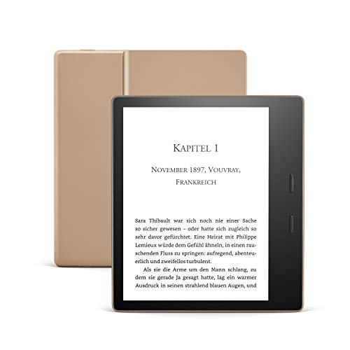 Der neue Kindle Oasis, Leselicht mit verstellbarer Farbtemperatur, wasserfest, 32 GB, WLAN, Gold