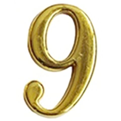 Digital house number - SODIAL(R)Home Practical Gold House Hotel Door Address Plaque Number With Srew Plate Sign House
