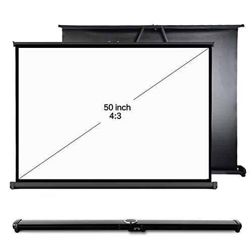 Alle Gain tragbare Projektor HD Bildschirm 127cm 16: 9, 127cm 4: 3festen Rahmen Manuelle Tisch Projektor Bildschirm weiß (Tragbare Tisch-projektor-bildschirm)