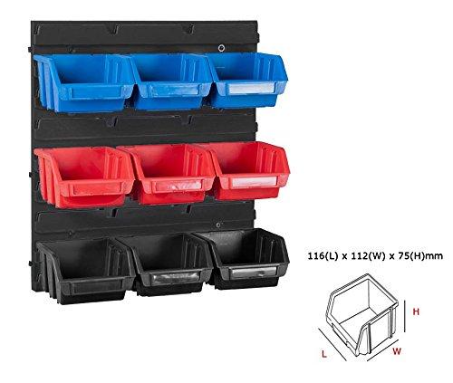 Garage Storage-base (Werkstatt Wandregal Stapelboxen Schraubenbox Regalsystem 10tlg)