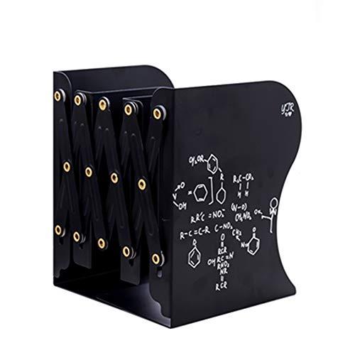 MSQL Buchstützen Einstellbare Nicht Skid Bücher Halter Stand Lesebrille Student Schreibwaren Schreibtisch Aufbewahrungsbox Dekorative Ornamente,Black