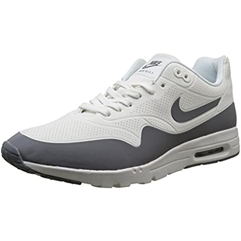 Nike Wmns Air Max 1 Ultra Moire, Zapatillas de Deporte para Mujer, Blanco (Smmt Wht / Cl Gry-Mtllc Slvr-Whi), 43/44