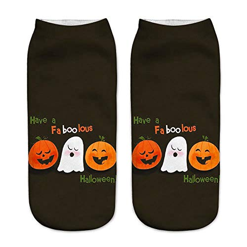 Clacce Socken Damen Neuheit 3D Katze Socken Baumwolle Fun Frauen Socken Casual Work Business Socken 3D Halloween Pumpkin Printing Medium Sportsocken