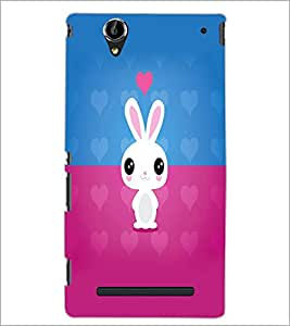 PrintDhaba Bunny D-5864 Back Case Cover for SONY XPERIA T2 ULTRA (Multi-Coloured)