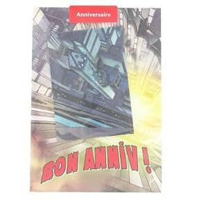 Carterie Carte d'anniversaire lenticulaire : Batman