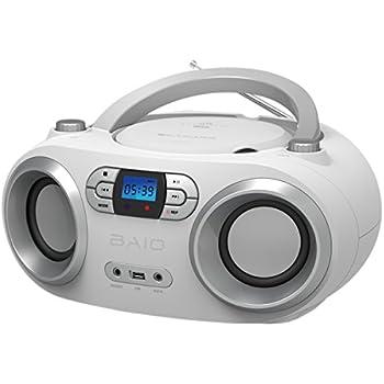 outmark baio tragbarer cd radio bluetooth player usb elektronik. Black Bedroom Furniture Sets. Home Design Ideas