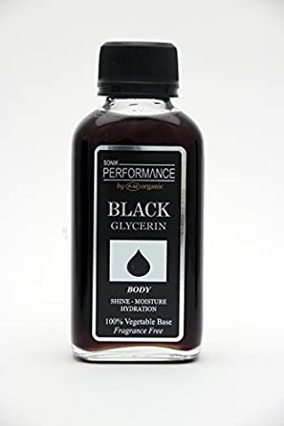 100% PURE GLYCERIN VEGETABLE GLYCERINE BLACK 125ml - FRAGRANCE FREE - By SONIK PERFORMANCE   P+50 ORGANIC - For Face, Skin care, Body and Nails, Moisturise - Great for Dermatitis, Psoriasis, Eczema, Brittle Nails, Burns, Pain, Stretch Marks, Rosacea, Cuts, Scars, Anti- Aging and More!