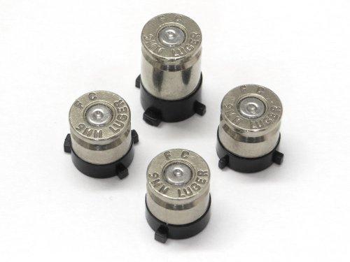 Bullet Buttons/Tasten passend für Xbox One® Controller - silber (Xbox One Controller-tasten Metall)