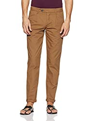 Jack & Jones Mens Casual Trousers (Dark Camel) (5712411840803)