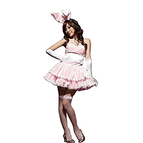 Costumes Bunnies - Ouneed® 4pcs Femmes Bunny Costume Nuiisette Lace