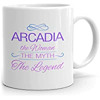 Arcadia Coffee Mug Tazas Personalizadas con Nombres - The Woman The Myth The Legend - Best