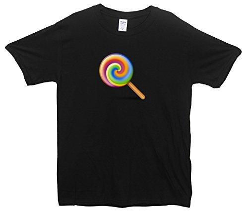 Lollipop Emoji T-Shirt Schwarz