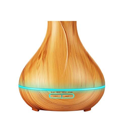 QUICKLYLY 400 ML Humidificador Ambientador Radiador Hogar Humidificadores Atomizador del purificador de Aire Aceite Esencial Difusor Aroma Lámpara eléctrica