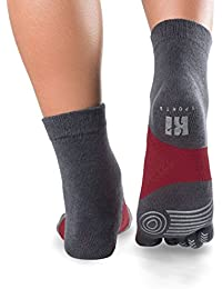 Calcetines tobillo y tacones paja