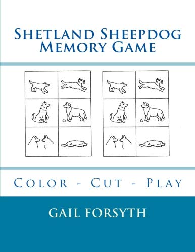 Shetland Sheepdog Memory Game: Color - Cut - Play por Gail Forsyth