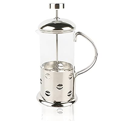 Cafetiere coffee Maker Travel Cafetiere French press Glass-Double Filter by RRunzfon