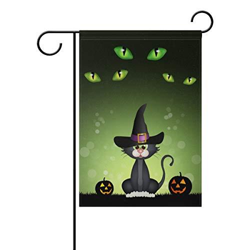 Ahomy Halloween-Kürbis mit schwarzer Katze, Polyester, Multi, 12x18inch