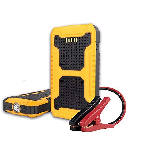 QUARK 400a 7500mah démarreur de Voiture Portable de démarrage, Batterie d'urgence Booster Pack avec Deux Sorties de Charge USB, Lampe de Poche LED, et Boussole