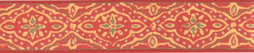 Selbstklebende Tapetenbordüre 3511-01 rot