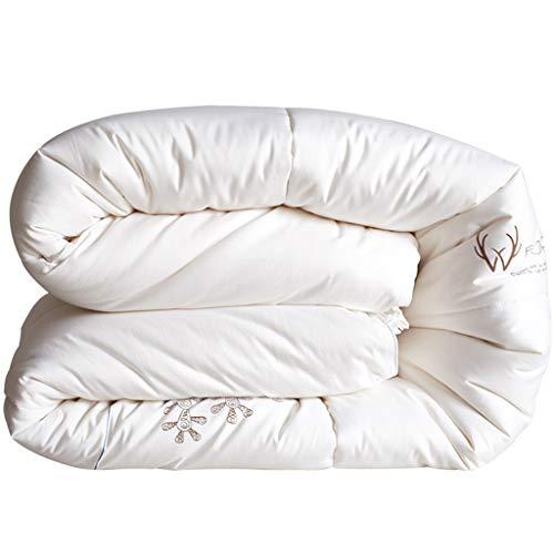 Leichte Tröster Weiße Baumwolle Tröster King Size Reversible Tröster Fluffy Warmer Soft Hypoallergen Quilted Tröster mit Ecklaschen (größe : 220x240cm 4gk) -