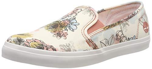 Timberland Damen Newport Bay Slip On Sneaker Halbhoch, Braun (Wtrclr Floral/Beige U5t), 36 EU Timberland Slip-on