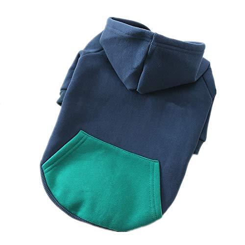 dekostüm Herbst Fashion Hundepullover Einfache einfarbig Welpen Haustierkleidung,Blue,XL ()