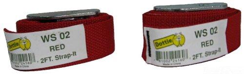 L.H. Dottie 2WS08Web Strap Tie Down, Geschenkpapierrolle 244cm Länge, violett, 2er Pack