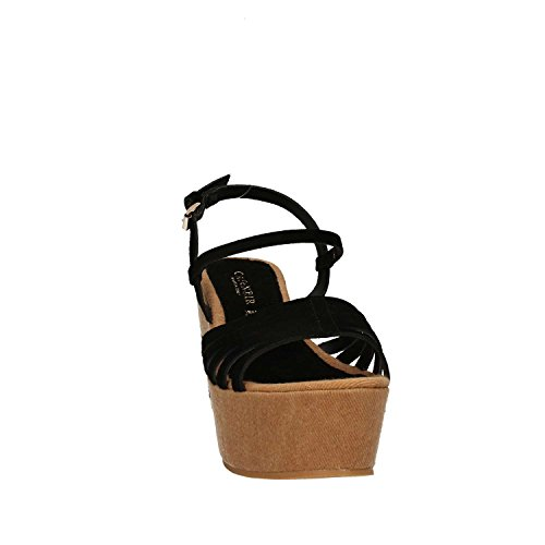 Cafenoir XV614 Sandalo tacco Donna Nero
