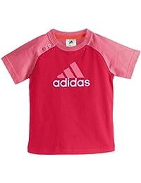 adidas Baby Mädchen (0-24 Monate) T-Shirt, Einfarbig Rosa Pink 2 Jahre