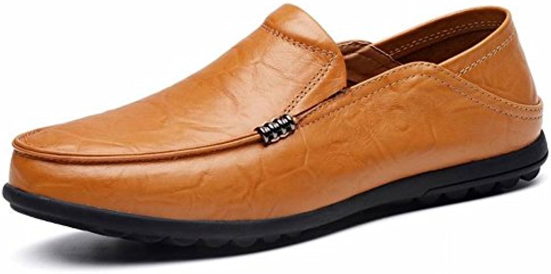 Zapatos de Gran Tamaño de Los Guisantes Cómodos Zapatos Perezosos Pedal Respirable Hombres, Amarillo marron, 37