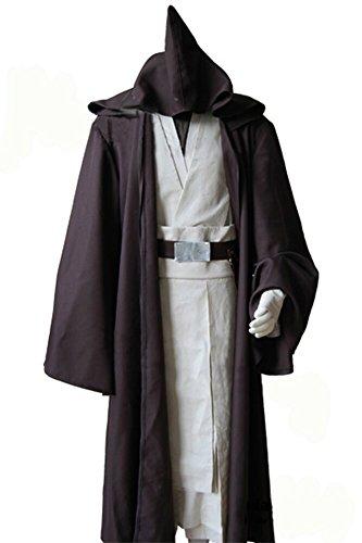 Fuman Star Wars Old Obi Wan Kenobi Cosplay Kostüm Herren L