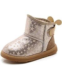 ZHRUI Kinder Stiefel Mädchen Schuhe Winter Schnee Stiefel