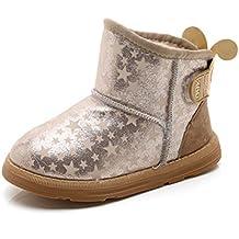 Stillshine Botas de Nieve para Niños Botas de Bebé para Niñas Zapatos de Invierno de Felpa