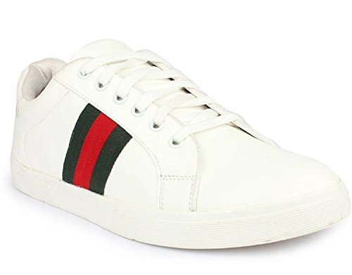 SBM Men's Synthetic Leather White sneakers (7)