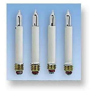 Accessoires pour maison de poupées - Eclairage : 4 grandes ampoules bougies