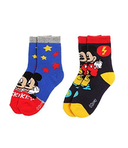 Disney Mickey Chicos Calcetines (lote de 2) - Azul