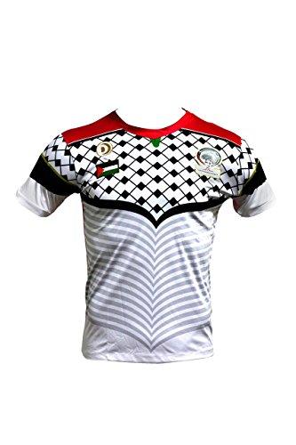 Trikot Fußball-Palästina cz228weiß Gr. M, weiß
